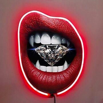 vampire teeth lips diamond  by sswain