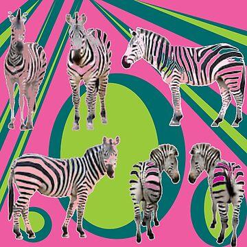Ediemagic Newwave Zebras by Ediemagic