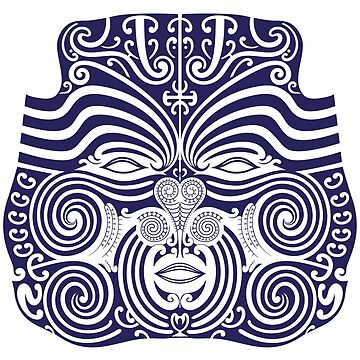 Maori face mask by satoriartwork