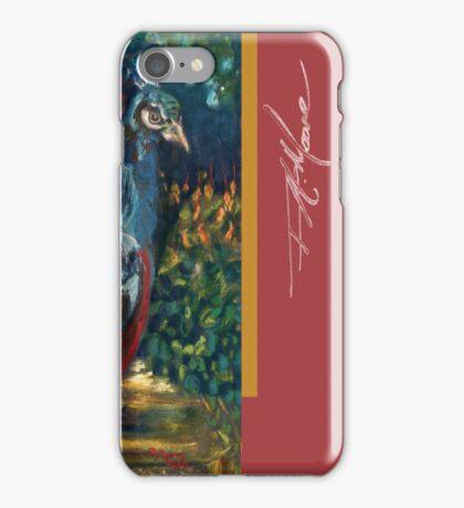 Peacock Garden. FA Moore Signature design, in Soft Red iPhone Case/Skin