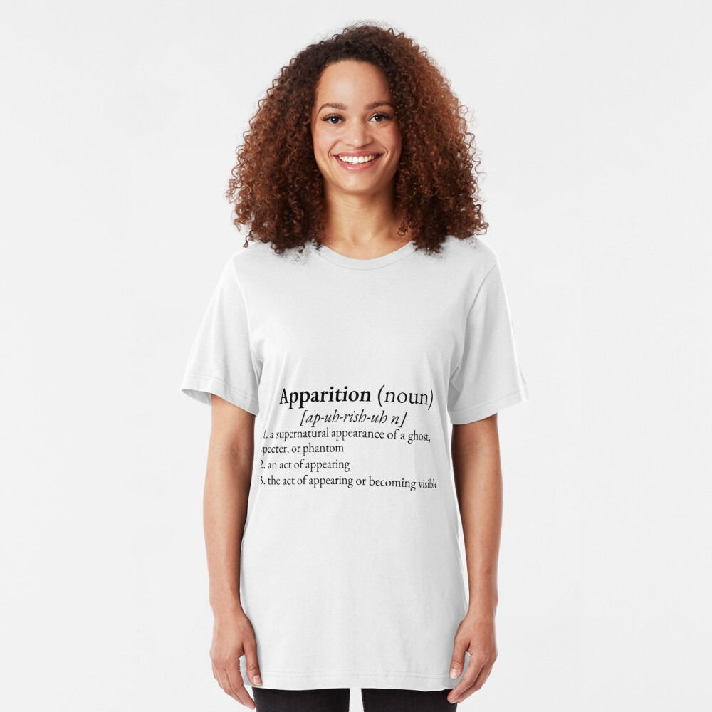 Paranormal Definitions: Apparition Slim Fit T-Shirt