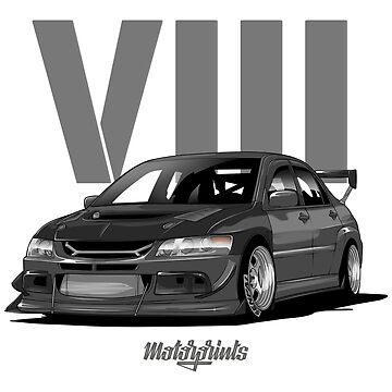 EVO VIII (gray) by MotorPrints
