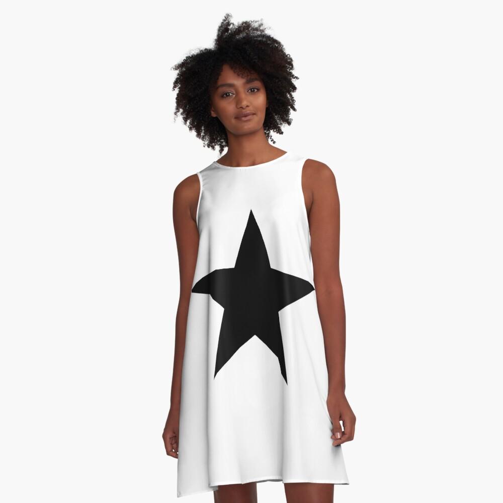 Blackstar A-Line Dress