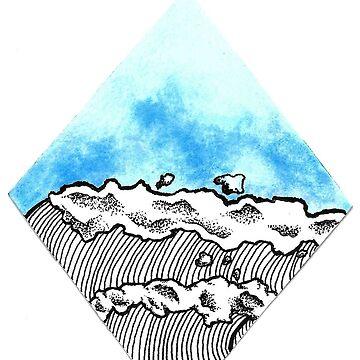 Watercolor Wave by calyla