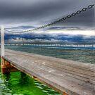 Storm Pool Greens and Blues by Mark van den Hoek