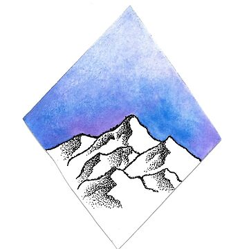 Mountain Watercolor by calyla