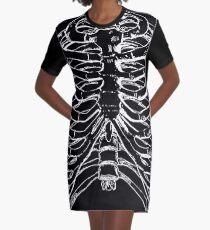 Skeleton Rib Cage Graphic T-Shirt Dress