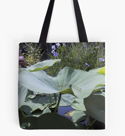 Lotus and Dragonfly Tote Bag