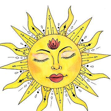 Watercolor Sun by calyla