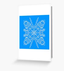 Robo Pattern Light Blue Greeting Card