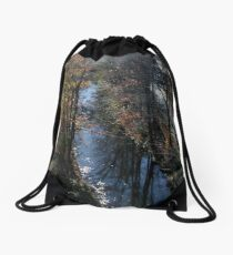 Blackstone Canal in Autumn Drawstring Bag