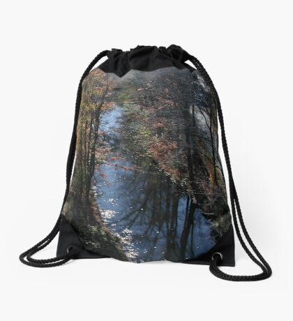 Blackstone Canal in Autumn Drawstring Bag