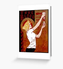 True Blood Nouveau red Greeting Card