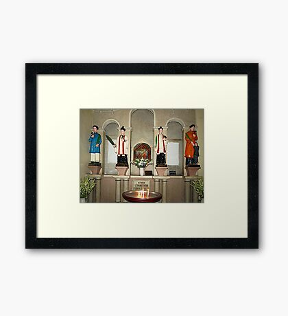Statues in Notre Dame Cathedral, Saigon Framed Print