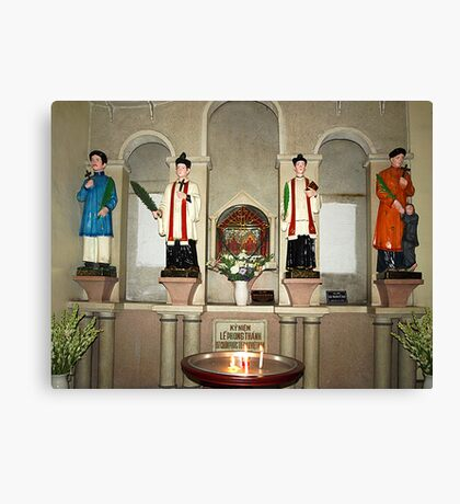 Statues in Notre Dame Cathedral, Saigon Canvas Print