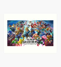 Smash Bros Ultimate High Quality Art Print