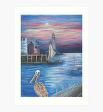 Pelican Port Art Print