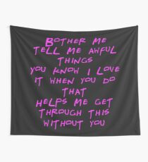 Awful Things Typography  Wall Tapestry