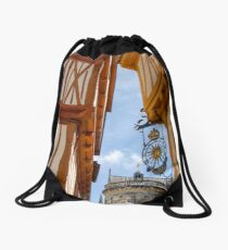 Place Henri IV with Cathedral in Background Drawstring Bag