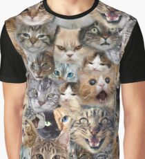 The many faces of Cats Graphic T-Shirt