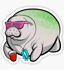 Party Manatee Sticker