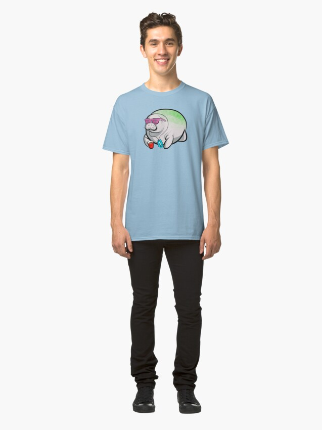 Alternate view of Party Manatee Classic T-Shirt