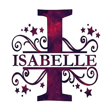 Isabelle | Girls Name and Monogram in Dark Purple by PraiseQuotes
