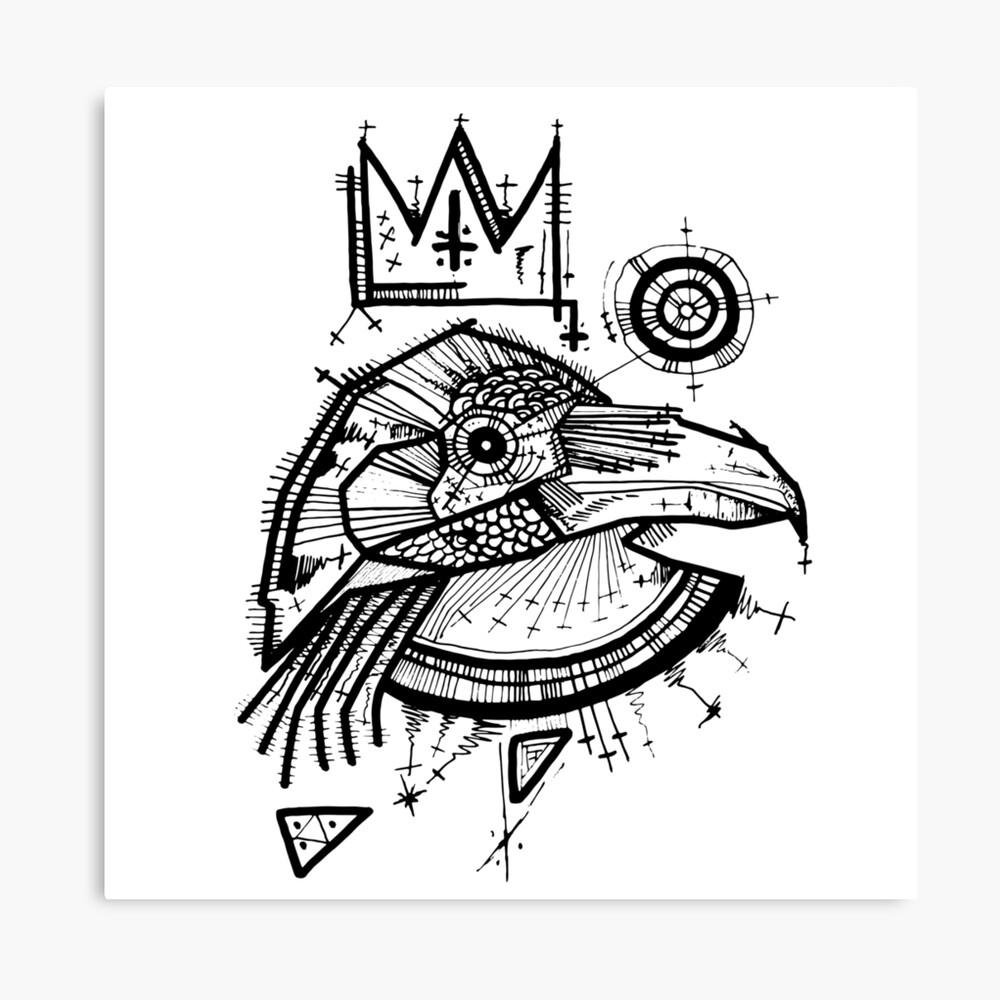 raven king Canvas Print