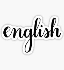 English Calligraphy Sticker