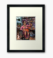 The Cat Witch in Her Studio Framed Print