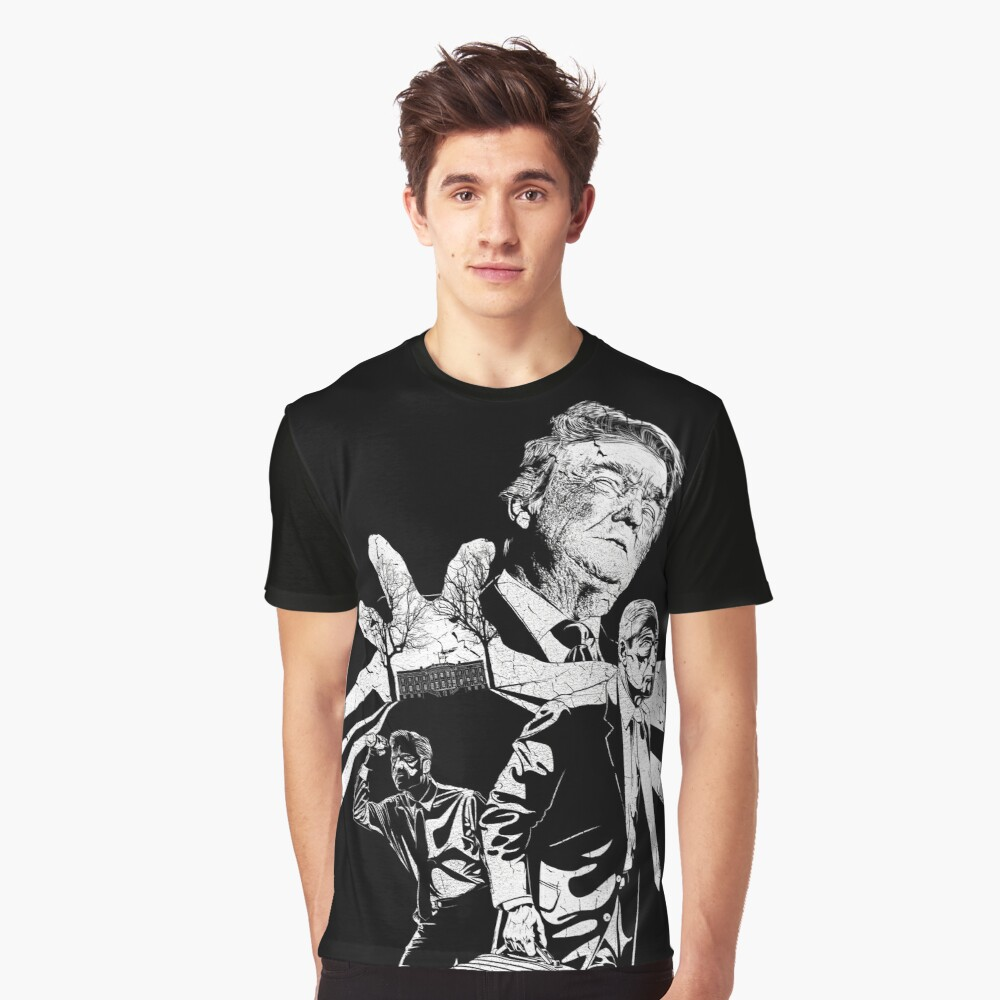 Bobby and the Witch Hunters [Distressed] Graphic T-Shirt Front
