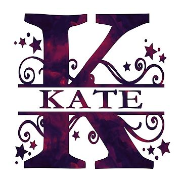 Kate | Girls Name and Monogram in Dark Purple by PraiseQuotes
