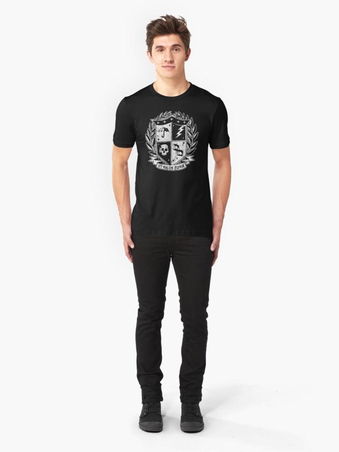 Alternate view of Umbrella Academy Crest Slim Fit T-Shirt