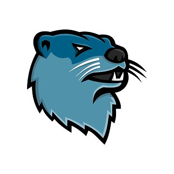 River Otter Head Mascot by patrimonio