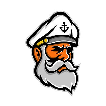 Seadog Sea Captain Head Mascot by patrimonio