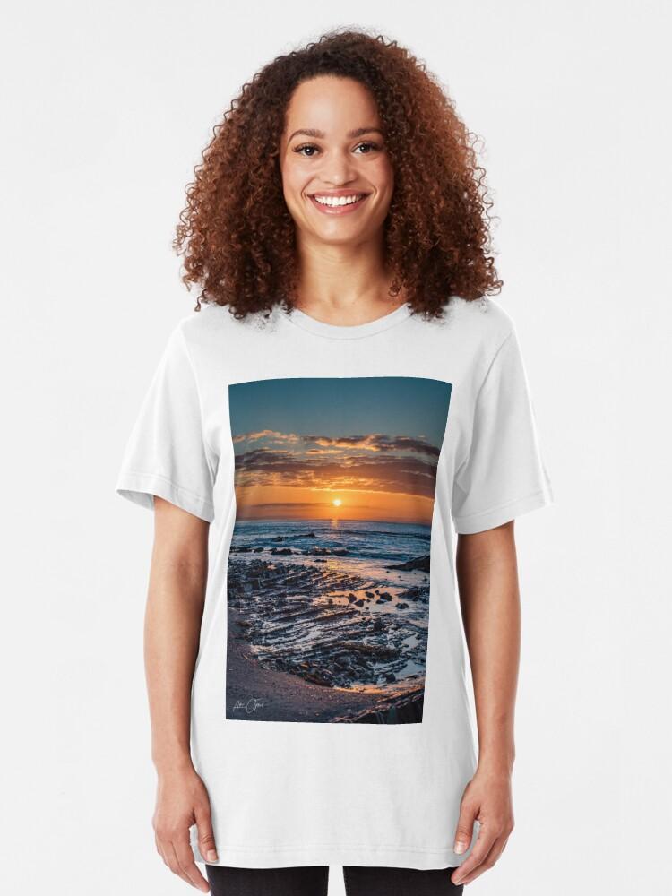 Alternate view of Sunrise over the ocean Slim Fit T-Shirt