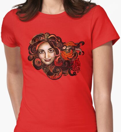 Red Golden Trimmed Maple Amy T-Shirt
