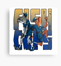 Fish Cops Metal Print