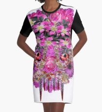 The Flowers Grow Graphic T-Shirt Dress
