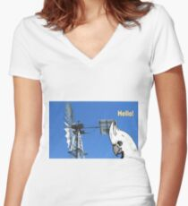 cocky at the windmill Women's Fitted V-Neck T-Shirt