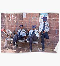 Relaxing Policemen Poster