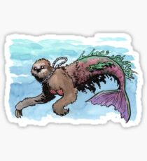 Herman the Mersloth (Sloth Mermaid) Sticker