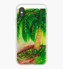 Palm Tree - Watercolour Design iPhone Case