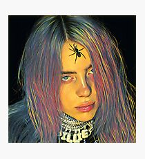 Billie Eilish Spider Crown Painting Photographic Print