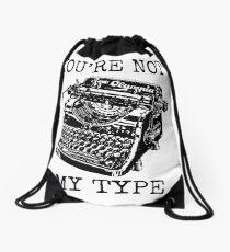 Typewriter - You're Not My Type Drawstring Bag