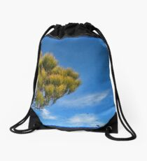 Blue 1 Drawstring Bag