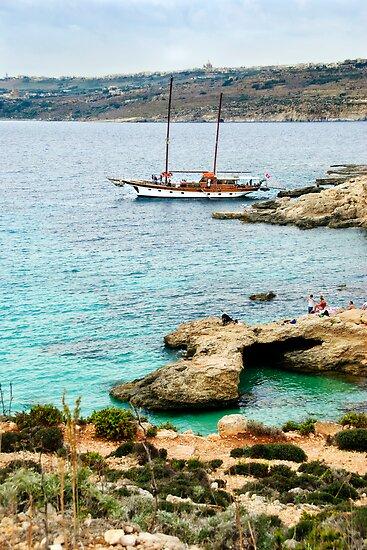 Sailing the Blue Lagoon in Malta by Alison Cornford-Matheson
