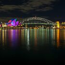 Sydney Opera House and Harbour Bridge by Ross Campbell