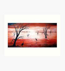 Crimson Skies Art Print
