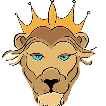 Lion Cartoon King of the Jungle by studiopico